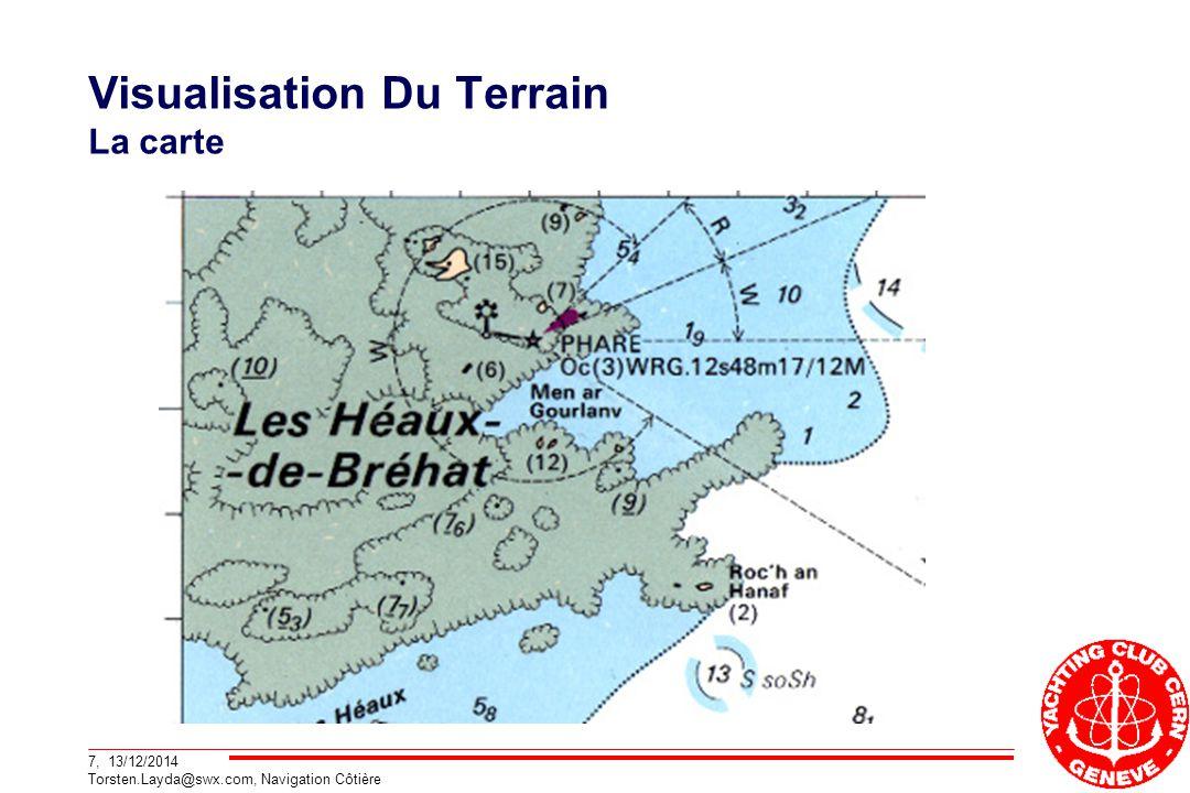 7, 13/12/2014 Torsten.Layda@swx.com, Navigation Côtière Visualisation Du Terrain La carte