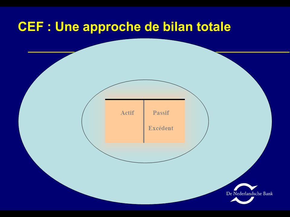 Actif Passif Excédent CEF : Une approche de bilan totale