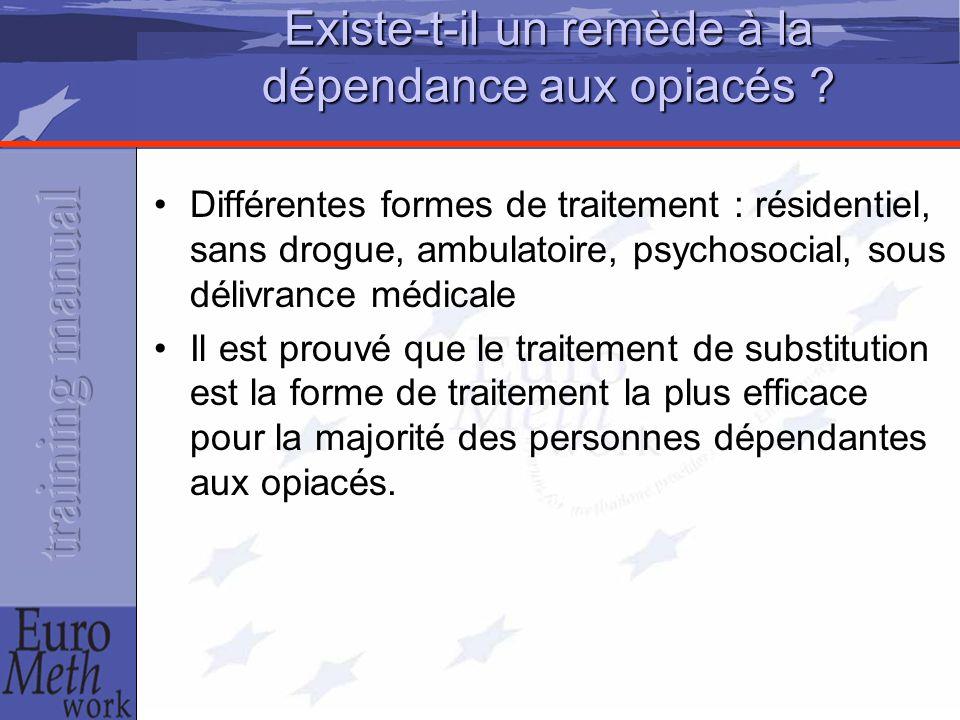 Existe-t-il un remède à la dépendance aux opiacés ? Différentes formes de traitement : résidentiel, sans drogue, ambulatoire, psychosocial, sous déliv