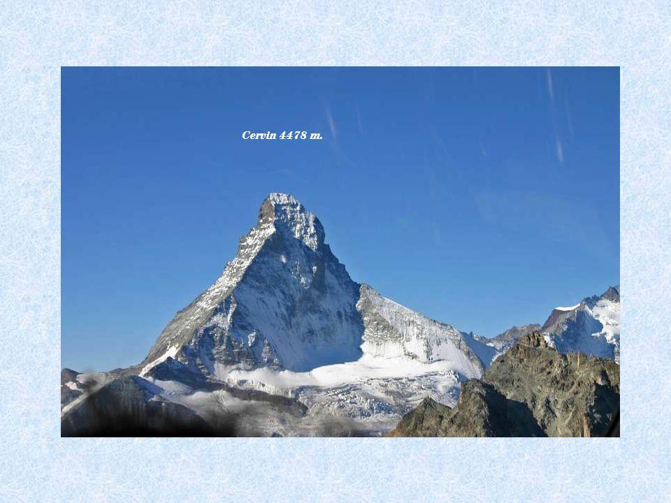Pt Cervin 3883 m.Breithorn 4164 m. Lyskam 4527 m. Castor et Pollux 4223 m. – 4092 m.