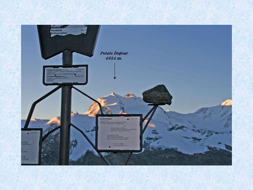 Massif du Mt Rose Lyskam 4527 m.