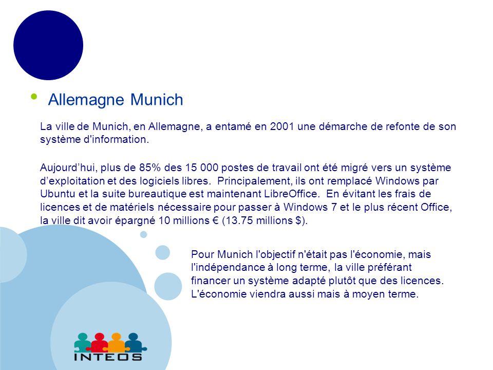 www.company.com Allemagne Munich La ville de Munich, en Allemagne, a entamé en 2001 une démarche de refonte de son système d information.