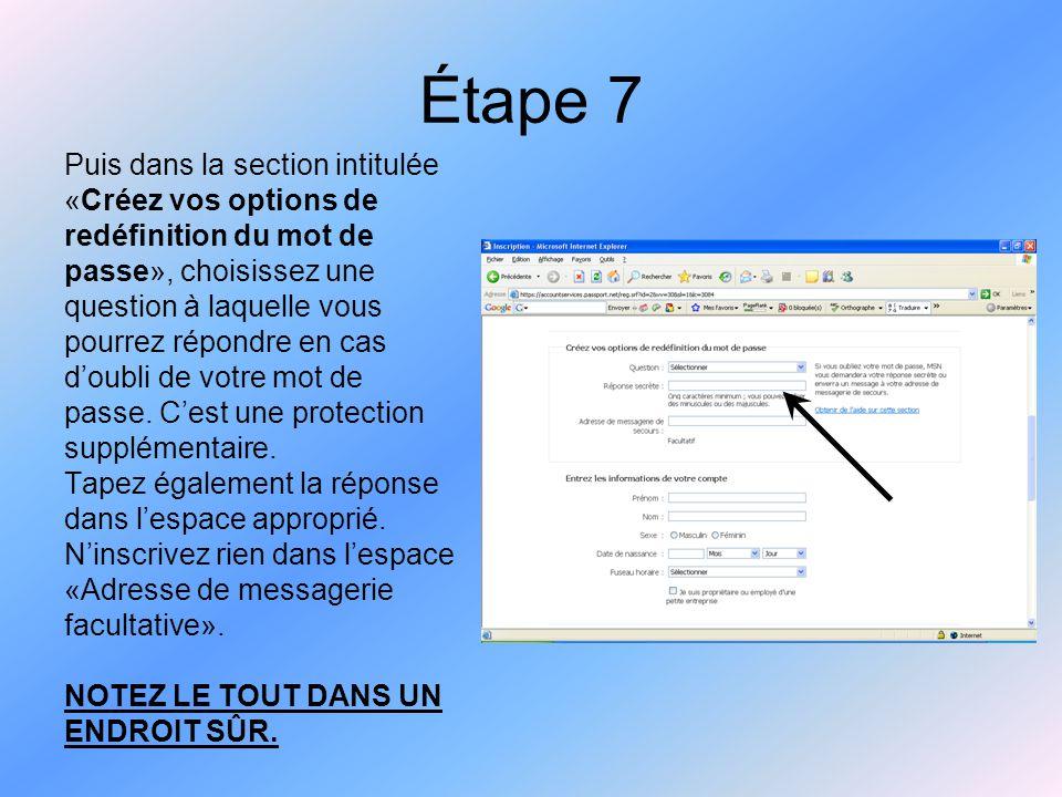 Étape 8 Inscrivez vos coordonnées dans la section «Entrez les informations de votre compte».
