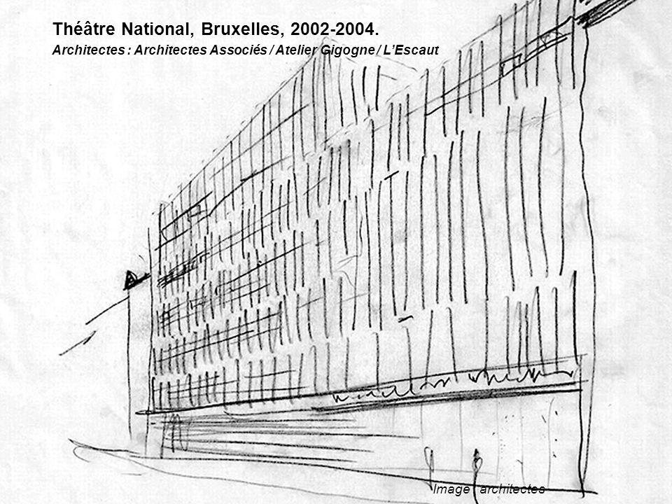 Image : architectes Théâtre National, Bruxelles, 2002-2004. Architectes : Architectes Associés / Atelier Gigogne / L'Escaut