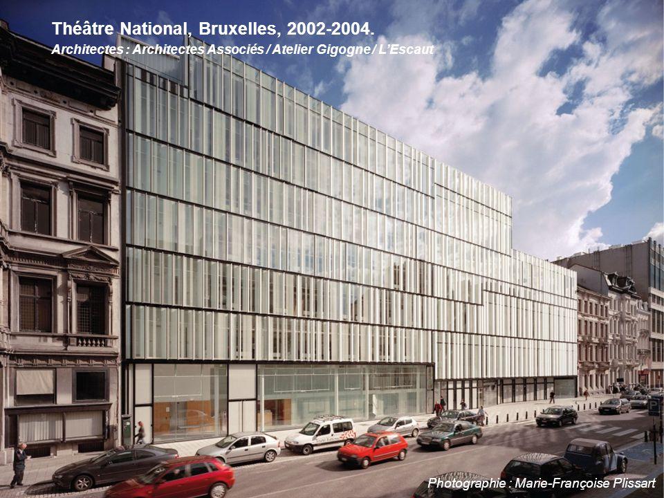 Photographie : Marie-Françoise Plissart Théâtre National, Bruxelles, 2002-2004. Architectes : Architectes Associés / Atelier Gigogne / L'Escaut