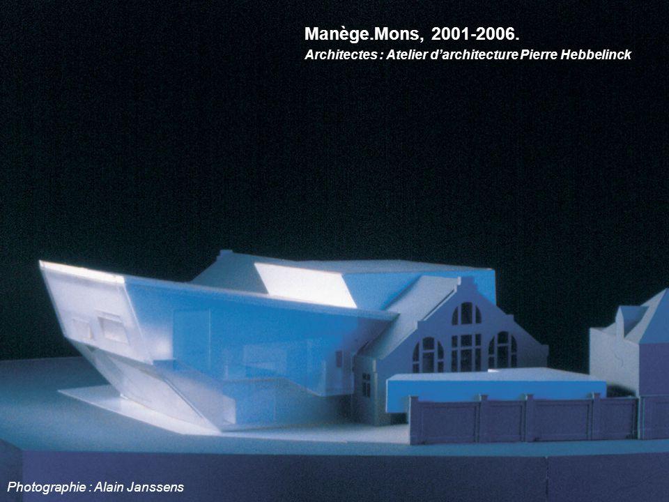 Manège.Mons, 2001-2006. Architectes : Atelier d'architecture Pierre Hebbelinck Photographie : Alain Janssens