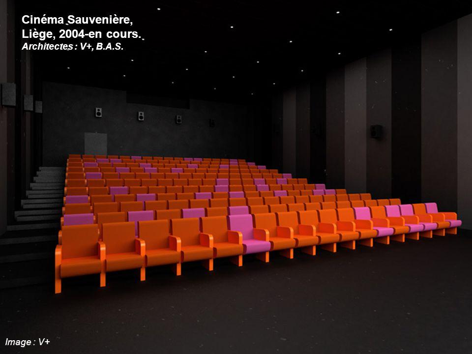 Cinéma Sauvenière, Liège, 2004-en cours. Architectes : V+, B.A.S. Image : V+