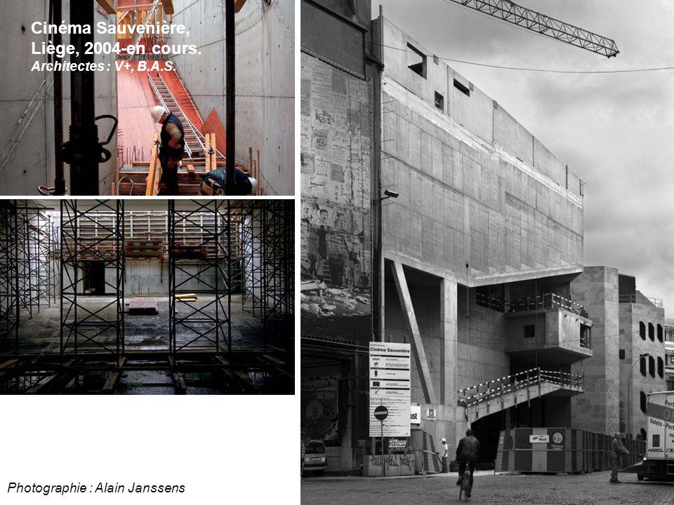 Photographie : Alain Janssens Cinéma Sauvenière, Liège, 2004-en cours. Architectes : V+, B.A.S.