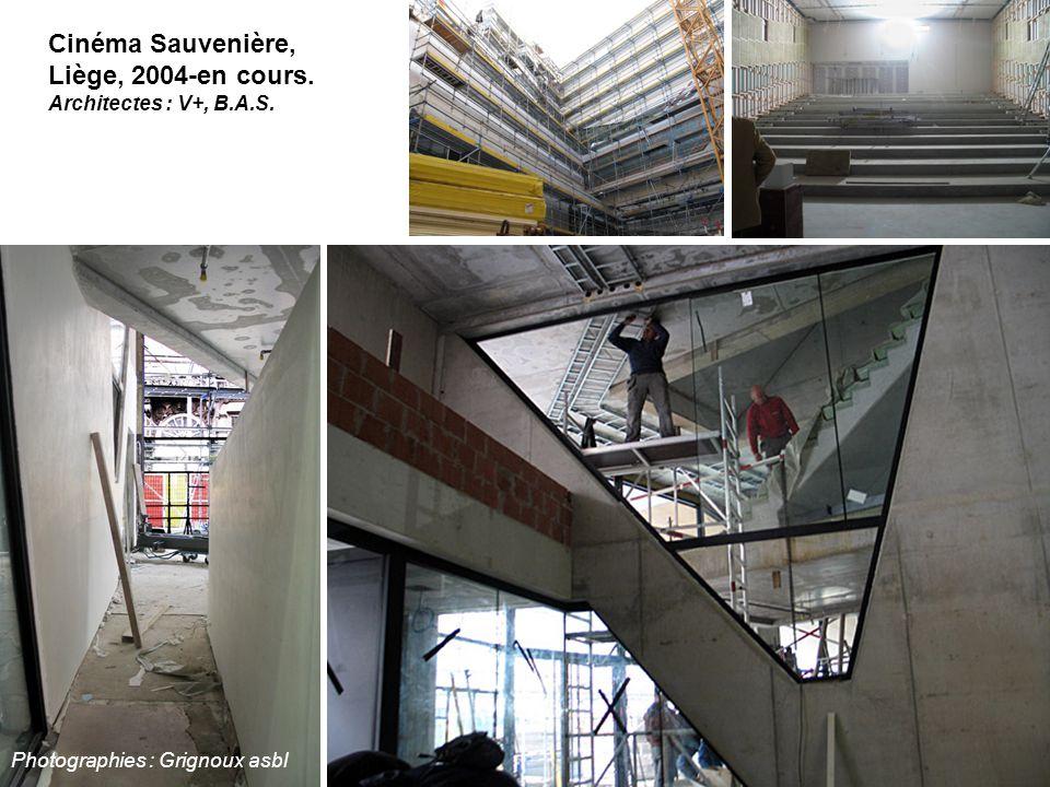 Cinéma Sauvenière, Liège, 2004-en cours. Architectes : V+, B.A.S. Photographies : Grignoux asbl
