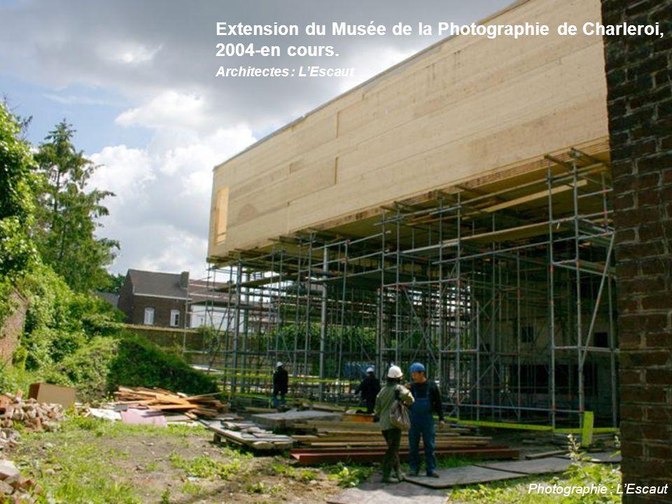Photographie : L'Escaut Extension du Musée de la Photographie de Charleroi, 2004-en cours. Architectes : L'Escaut
