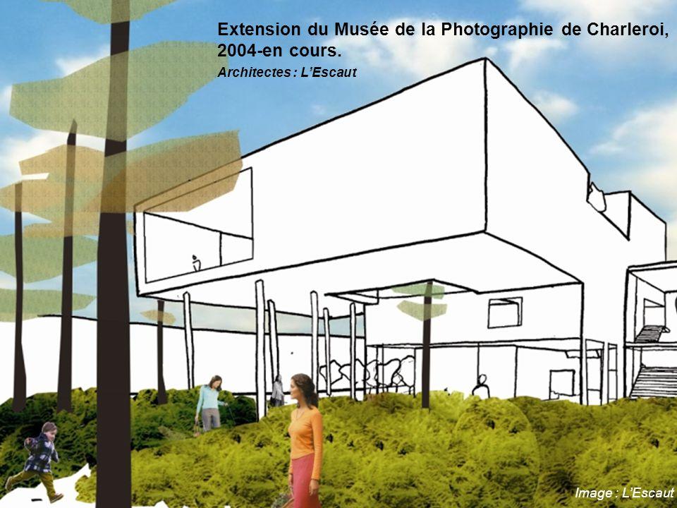Image : L'Escaut Extension du Musée de la Photographie de Charleroi, 2004-en cours. Architectes : L'Escaut