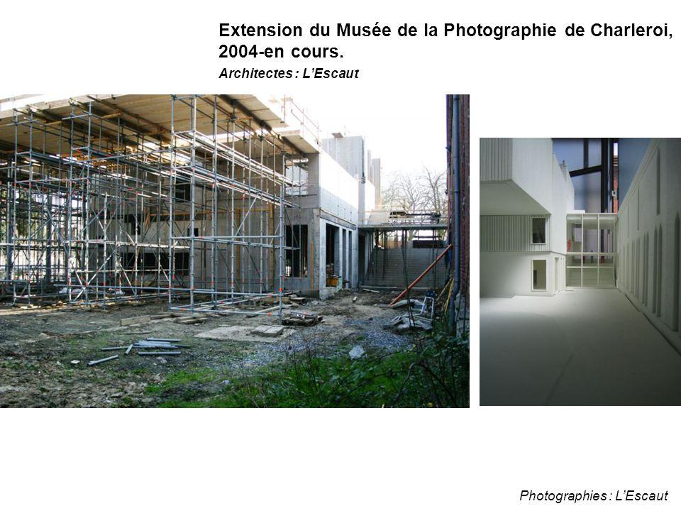 Photographies : L'Escaut Extension du Musée de la Photographie de Charleroi, 2004-en cours. Architectes : L'Escaut