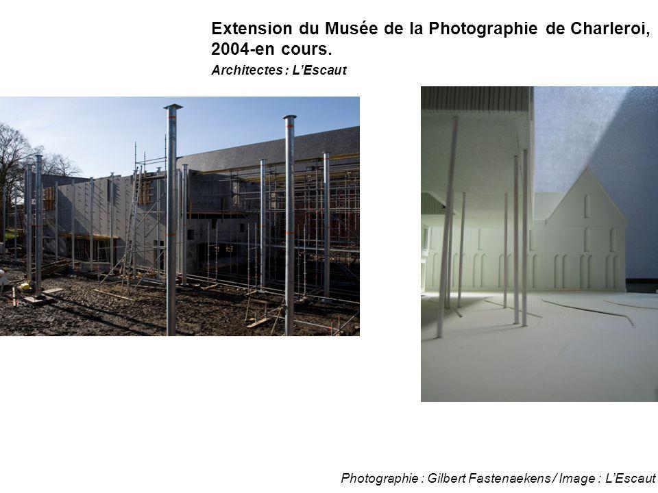 Photographie : Gilbert Fastenaekens / Image : L'Escaut Extension du Musée de la Photographie de Charleroi, 2004-en cours. Architectes : L'Escaut