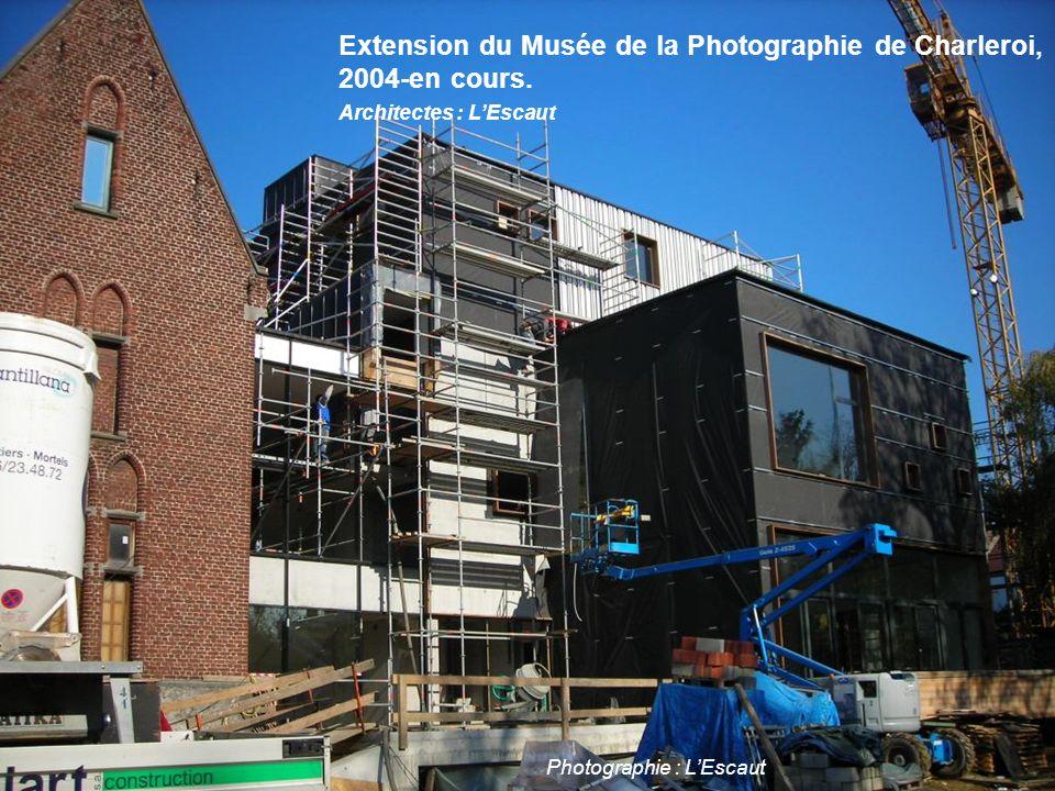 Extension du Musée de la Photographie de Charleroi, 2004-en cours. Architectes : L'Escaut Photographie : L'Escaut Extension du Musée de la Photographi