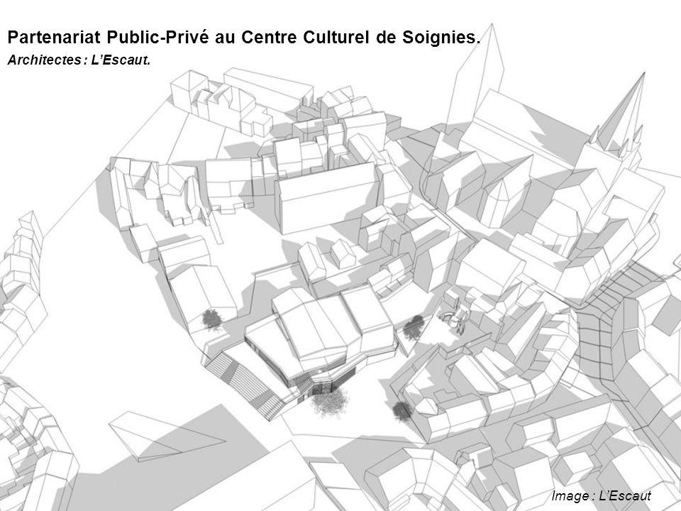 Image : L'Escaut Partenariat Public-Privé au Centre Culturel de Soignies. Architectes : L'Escaut.