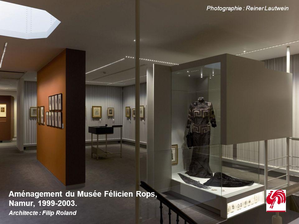 Aménagement du Musée Félicien Rops, Namur, 1999-2003. Architecte : Filip Roland Photographie : Reiner Lautwein