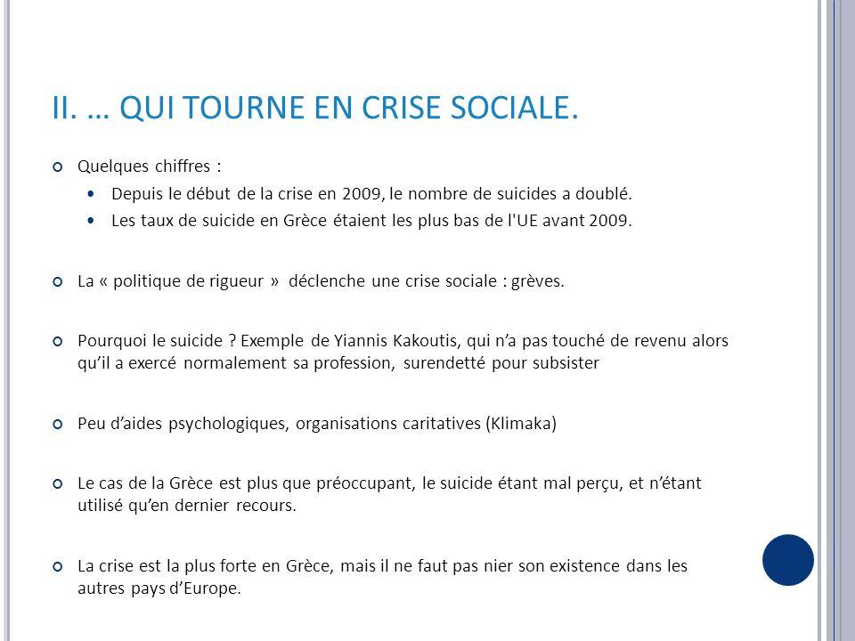 II. … QUI TOURNE EN CRISE SOCIALE.