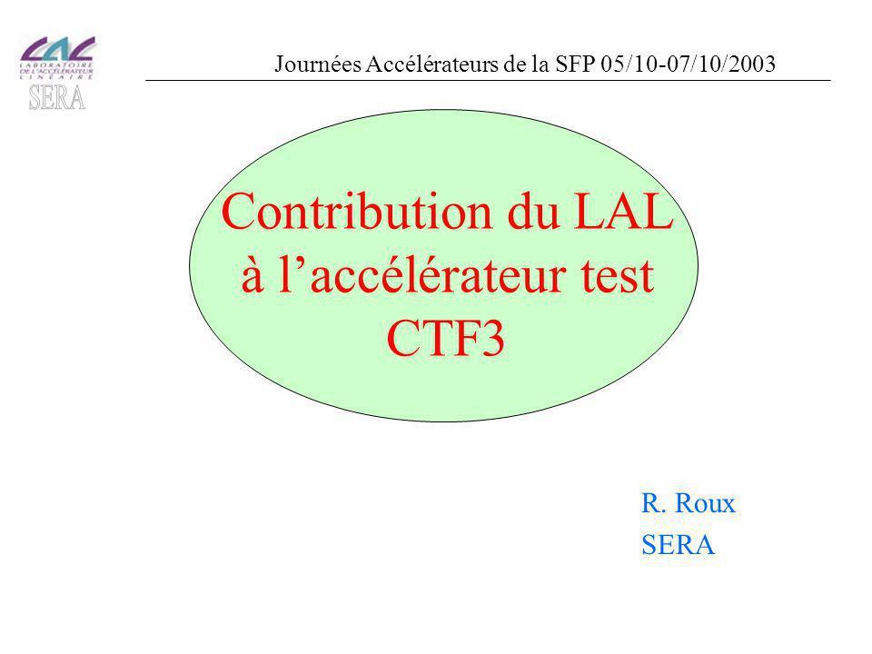 Contribution du LAL à l'accélérateur test CTF3 R.