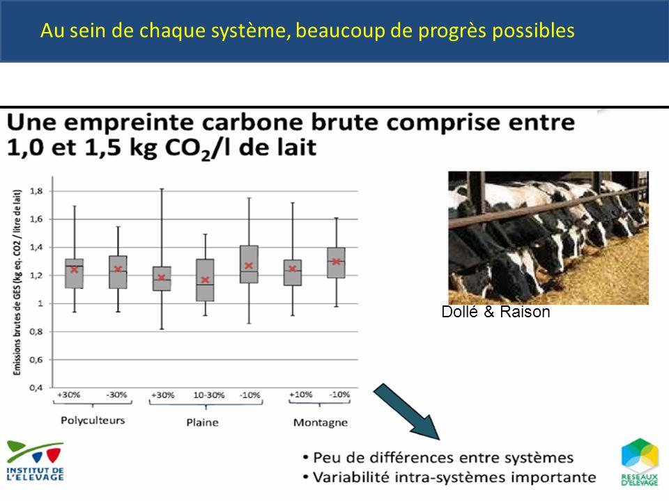 Au sein de chaque système, beaucoup de progrès possibles Dollé & Raison