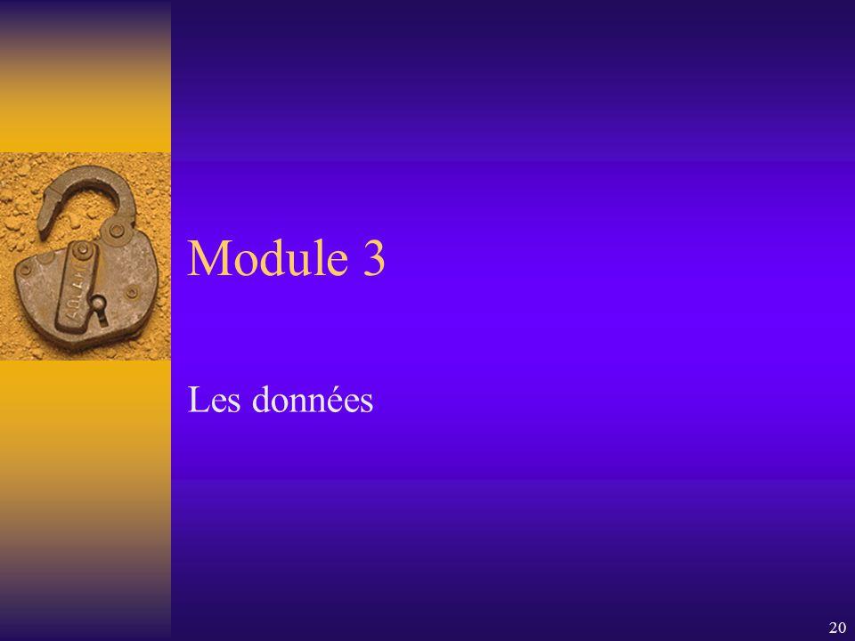 20 Module 3 Les données