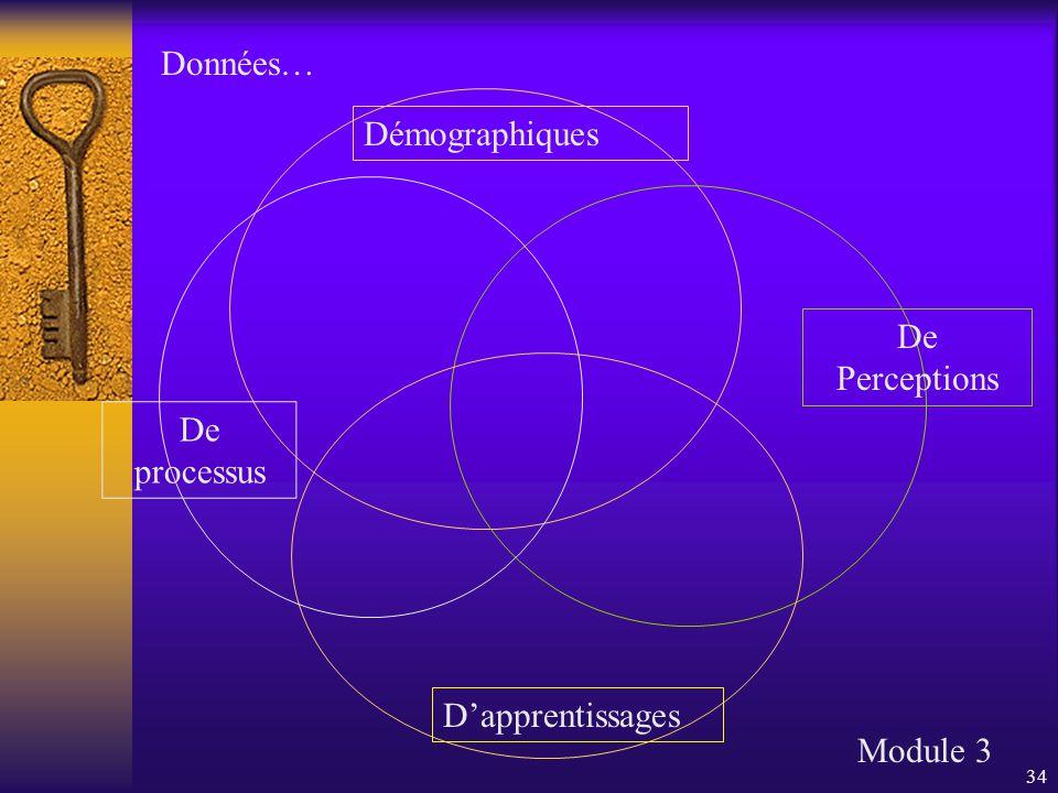 34 Démographiques De Perceptions D'apprentissages De processus Module 3 Données…