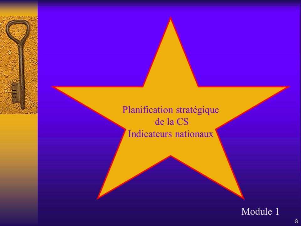 9 Plan stratégique du Ministère Plan stratégique de la commission scolaire Projet éducatif et plan de réussite de l'école Module 1