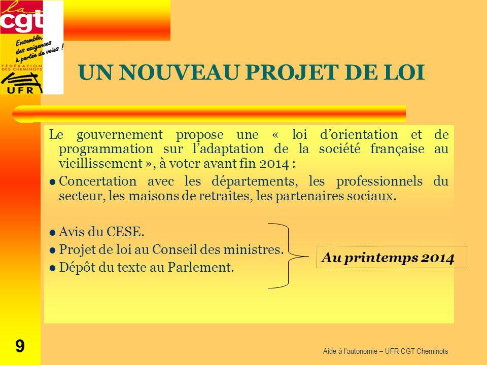 Le gouvernement propose une « loi d'orientation et de programmation sur l'adaptation de la société française au vieillissement », à voter avant fin 20