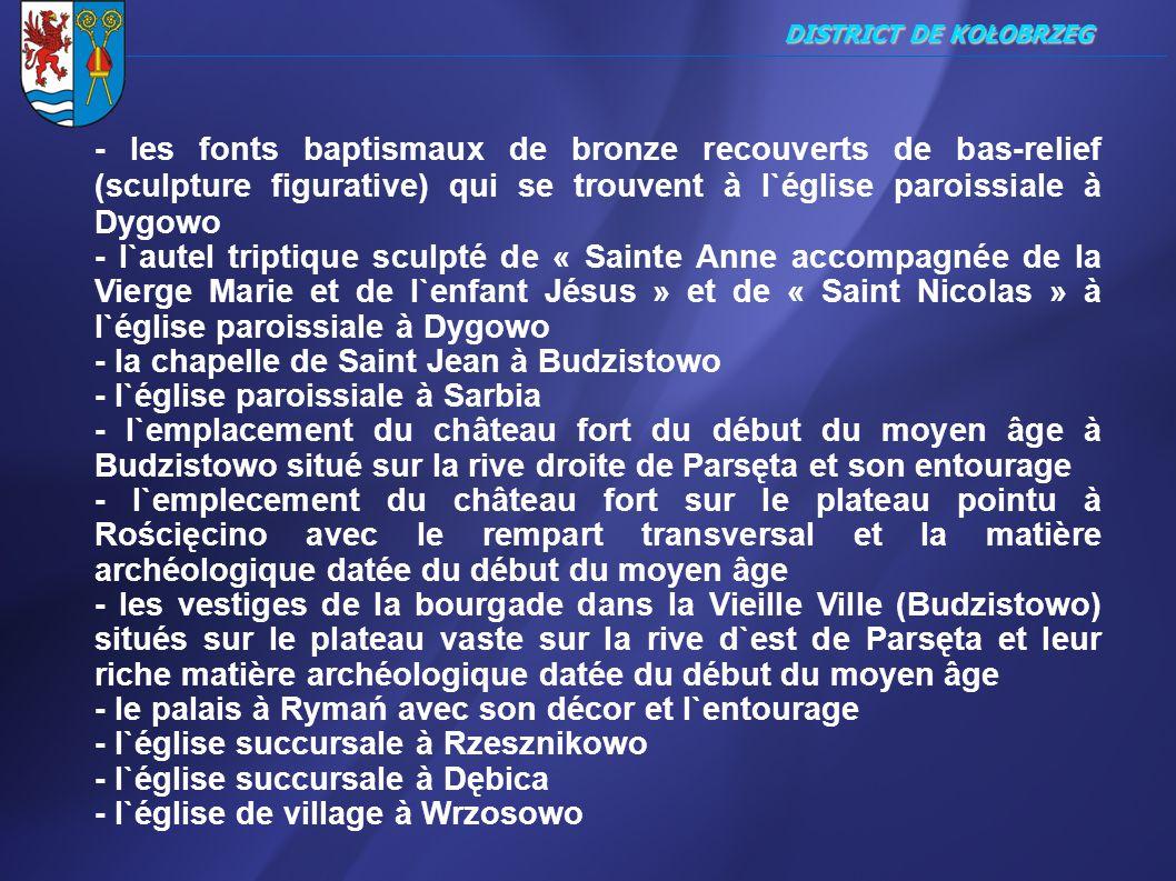 ________________________________________________________________________________ DISTRICT DE KOŁOBRZEG - les fonts baptismaux de bronze recouverts de