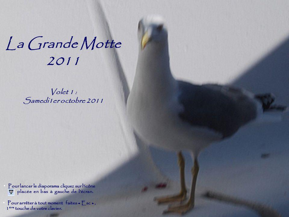 La Grande Motte 2011 Volet 1 : Samedi1er octobre 2011 Pour arrêter à tout moment faites « Esc », 1 ère touche de votre clavier.