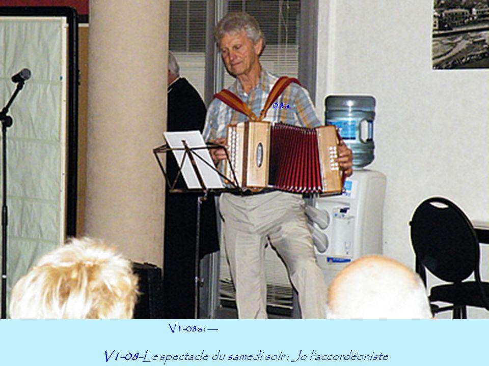 08a V1-08-Le spectacle du samedi soir : Jo l'accordéoniste V1-08a : ---
