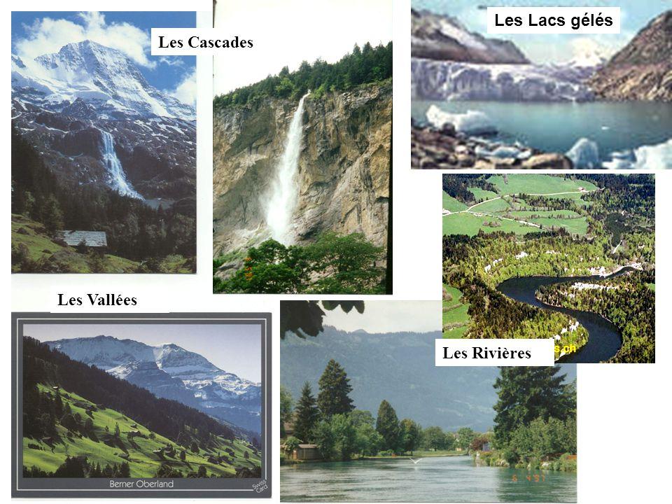 Les Lacs gélés Les Rivières Les Vallées Les Cascades