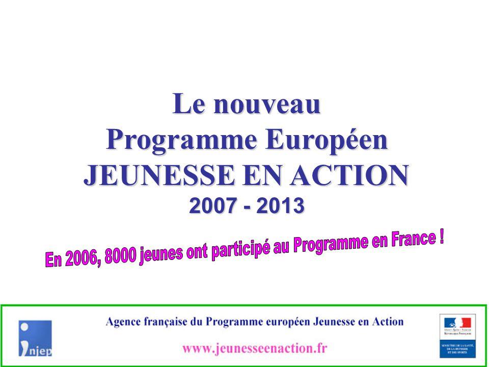 à l'Agence française du Programme Européen Jeunesse en Action à l'Agence française du Programme Européen Jeunesse en Action Tél.