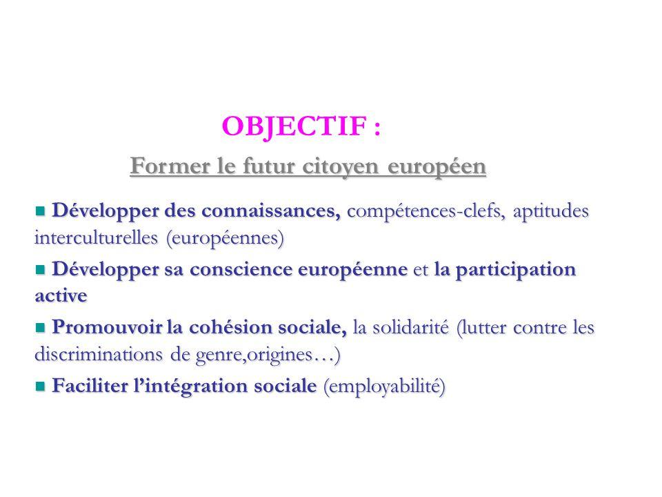 Pour tous les jeunes résidents européens de 13 à 30 ans, sans condition de formation ni de diplôme Pour tous les jeunes résidents européens de 13 à 30