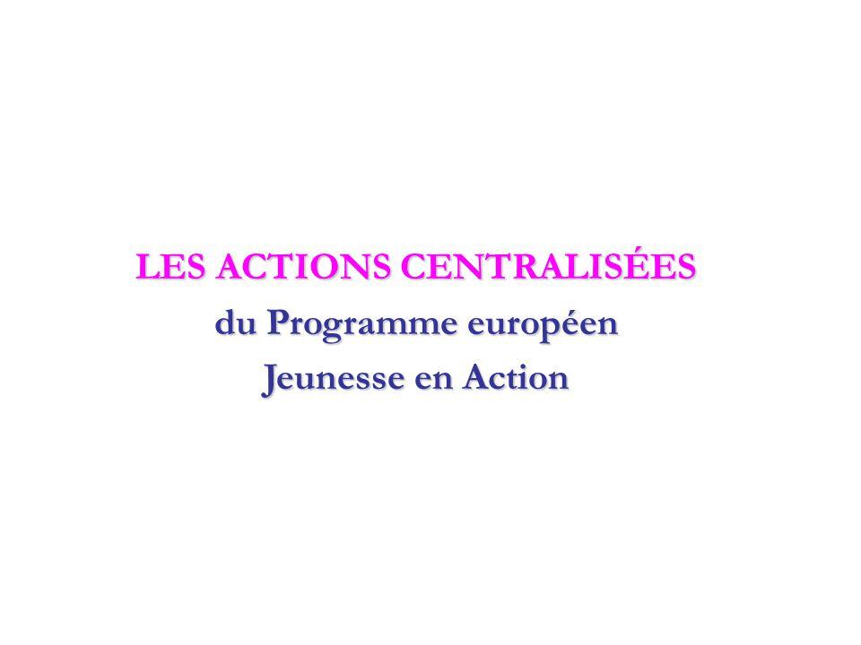 Action 5.1 : Rencontres entre les jeunes et les responsables de politiques de jeunesse Pour les groupes de jeunes de 15-30 ans, les animateurs, les décideurs, de 3 à 6 jours Pour favoriser un dialogue constructif et promouvoir la coopération politique dans le domaine de la jeunesse Pour favoriser un dialogue constructif et promouvoir la coopération politique dans le domaine de la jeunesse Echanges d'idées et de pratiques, débats organisés entre les jeunes, les organisations et les décideurs Echanges d'idées et de pratiques, débats organisés entre les jeunes, les organisations et les décideurs Séminaire national ou transnational Séminaire national ou transnational Des thématiques prioritaires : participation active des jeunes, diversité culturelle, avenir de l'Europe, citoyenneté, inclusion sociale..