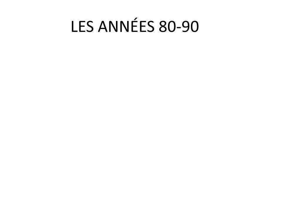 LES ANNÉES 80-90