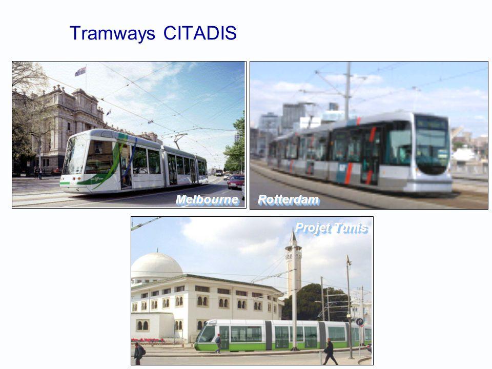 Tramways CITADIS RotterdamRotterdamMelbourneMelbourne Projet Tunis