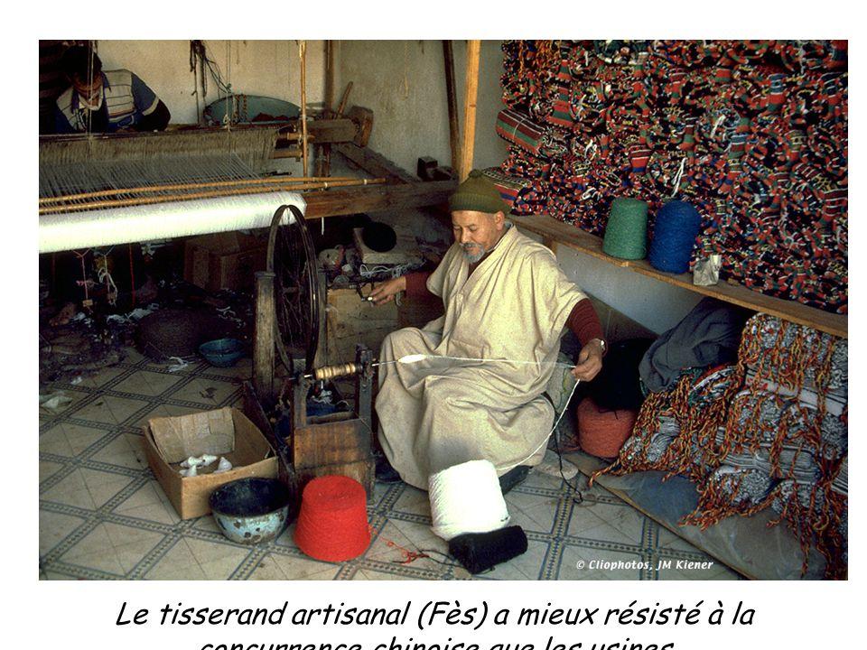 Le tisserand artisanal (Fès) a mieux résisté à la concurrence chinoise que les usines