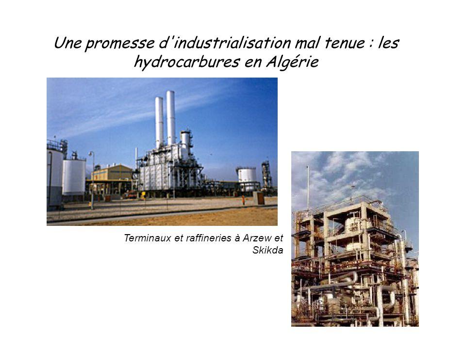 Une promesse d'industrialisation mal tenue : les hydrocarbures en Algérie Terminaux et raffineries à Arzew et Skikda