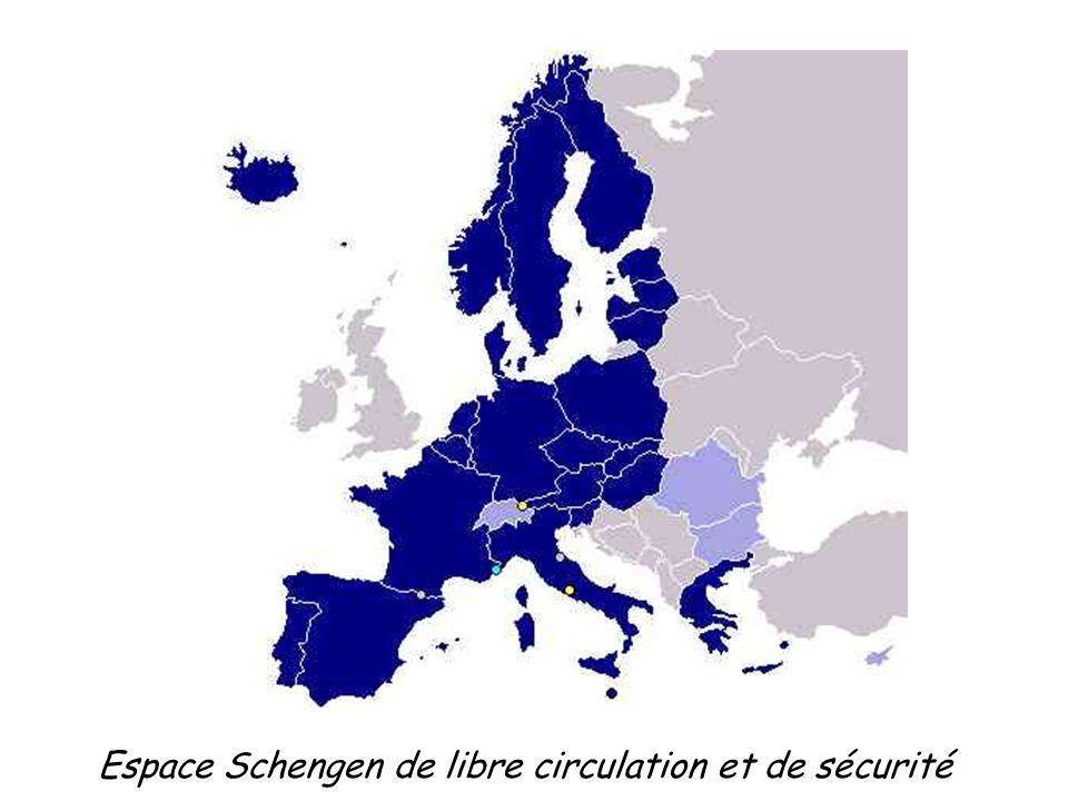 Espace Schengen de libre circulation et de sécurité
