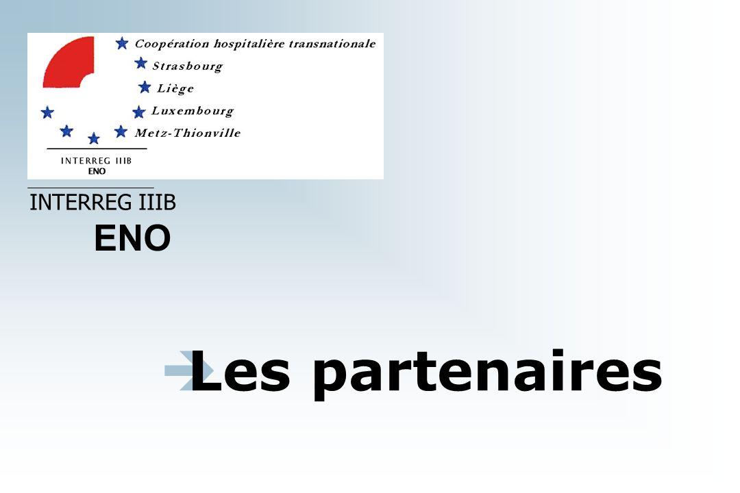 Les partenaires INTERREG IIIB ENO