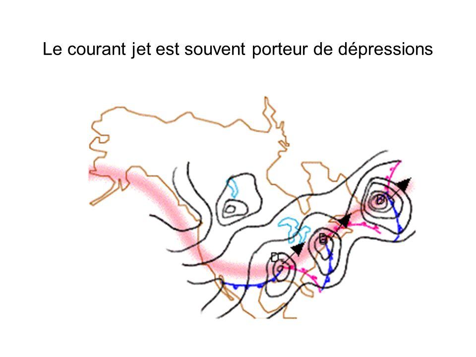Le courant jet est souvent porteur de dépressions