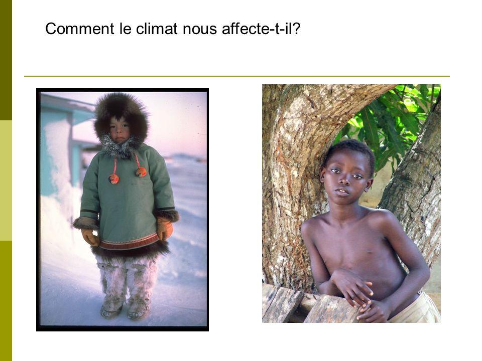 Comment le climat nous affecte-t-il?
