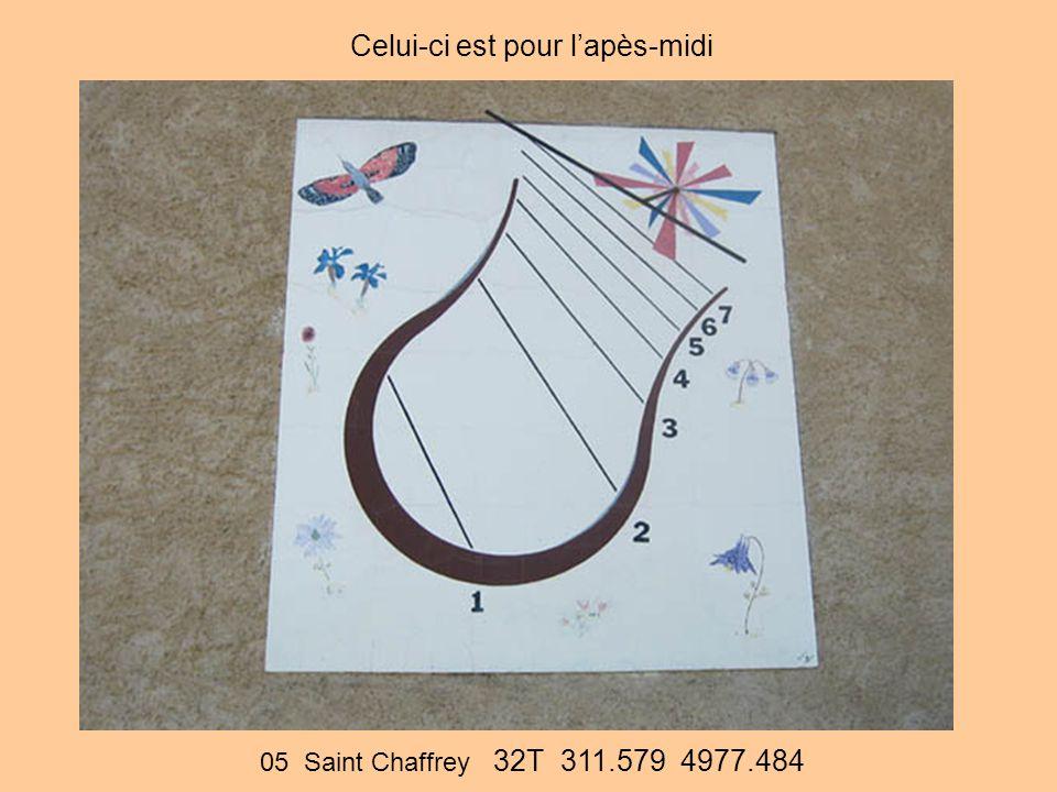 05 Saint Chaffrey 32T 311.579 4977.484 Celui-ci est pour l'apès-midi