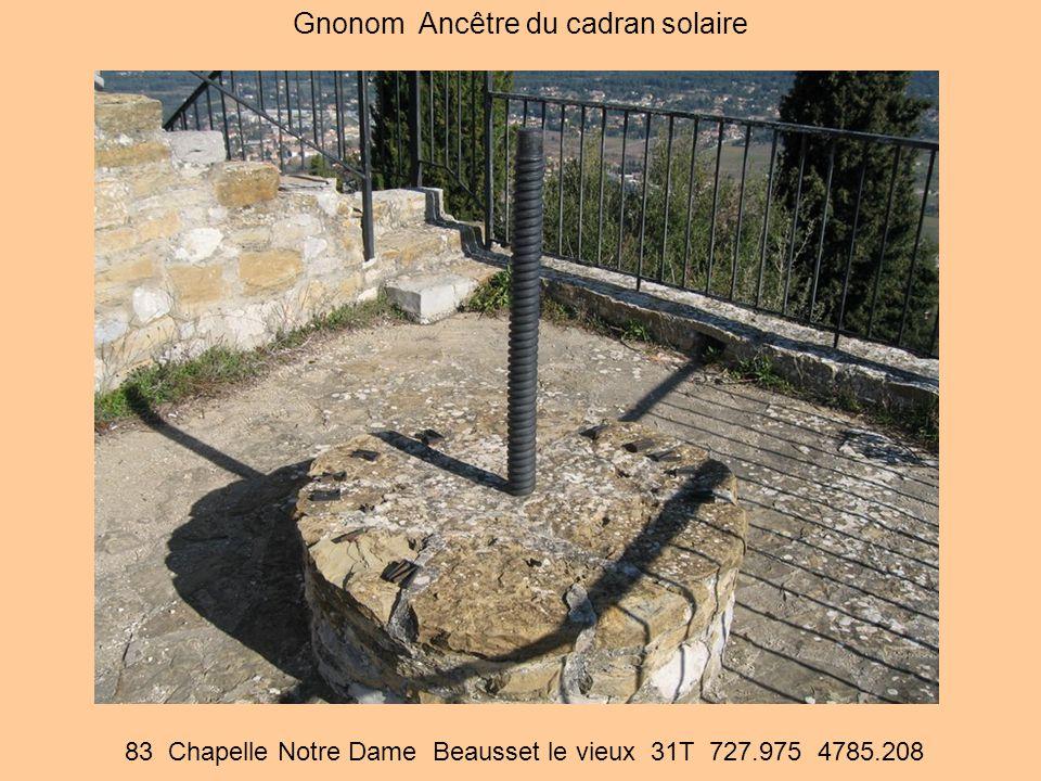 83 Chapelle Notre Dame Beausset le vieux 31T 727.975 4785.208 Gnonom Ancêtre du cadran solaire