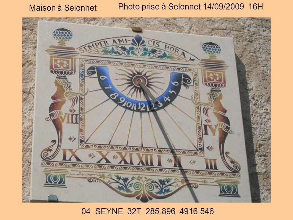 Maison à Selonnet Photo prise à Selonnet 14/09/2009 16H 04 SEYNE 32T 285.896 4916.546