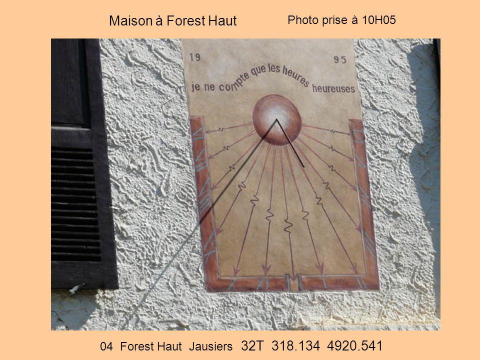 Maison à Forest Haut 04 Forest Haut Jausiers 32T 318.134 4920.541 Photo prise à 10H05