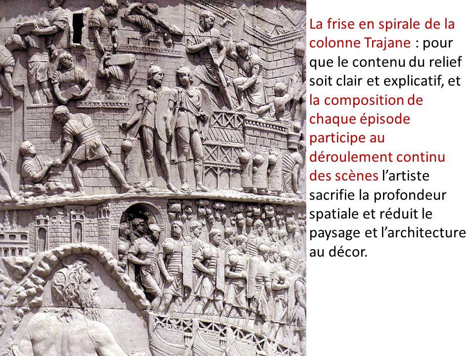 La frise en spirale de la colonne Trajane : pour que le contenu du relief soit clair et explicatif, et la composition de chaque épisode participe au d
