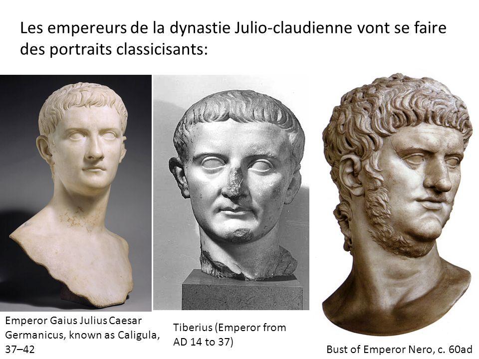 Les empereurs de la dynastie Julio-claudienne vont se faire des portraits classicisants: Emperor Gaius Julius Caesar Germanicus, known as Caligula, 37