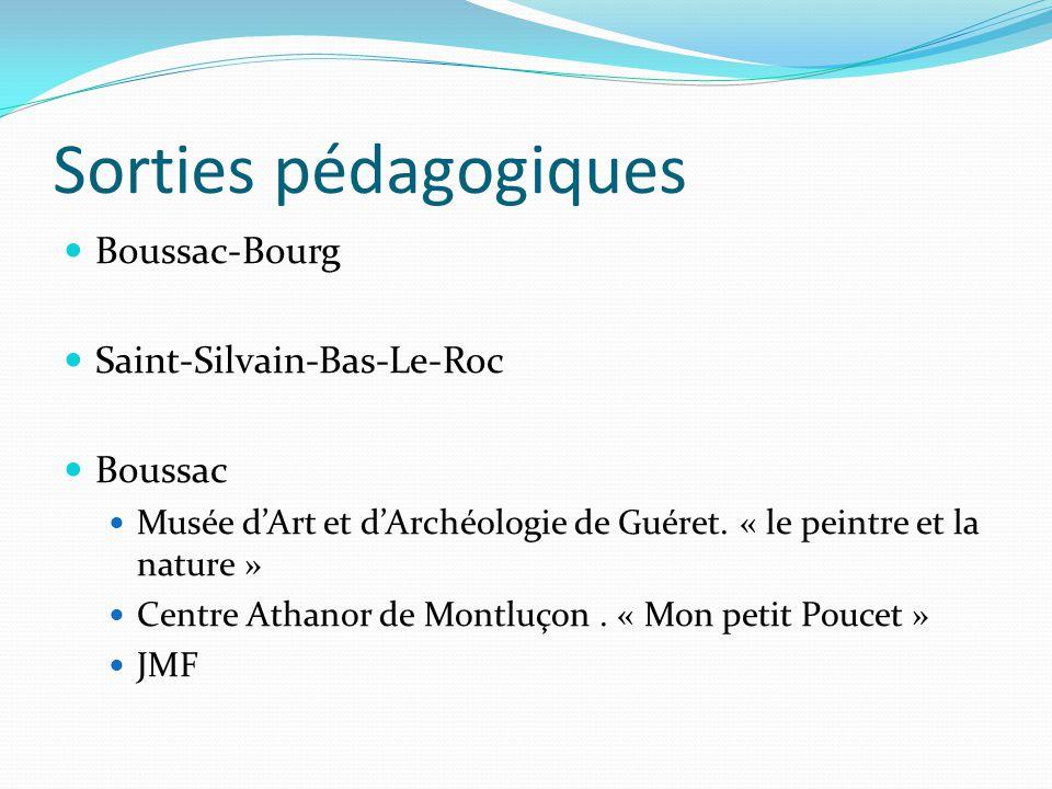 Sorties pédagogiques Boussac-Bourg Saint-Silvain-Bas-Le-Roc Boussac Musée d'Art et d'Archéologie de Guéret.