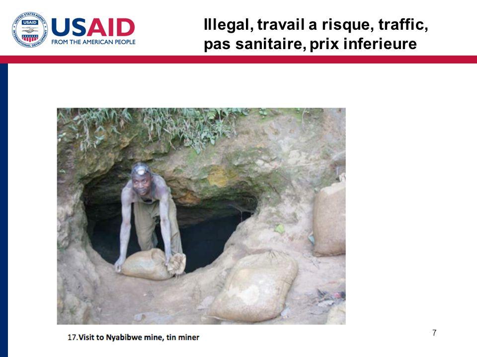 7 Illegal, travail a risque, traffic, pas sanitaire, prix inferieure